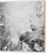 Mountain Stream In Summer Mist Wood Print