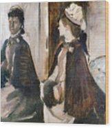 Mrs Jeantaud In The Mirror  Wood Print
