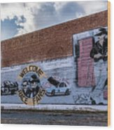 Mural - Downtown Bristol Tennessee/virginia Wood Print