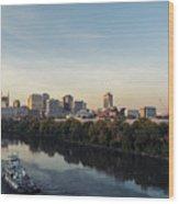 Nashville Tennessee Skyline Sunrise  Wood Print
