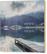 Nature Around Lake Lure Chimney Rock And Broad River North Carol Wood Print