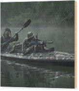 Navy Seals Navigate The Waters Wood Print