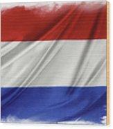 Netherlands Flag Wood Print