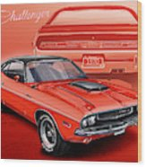 Dodge Challenger 1970 R/t Wood Print