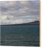 New Zealand - Vessel Departing Auckland Wood Print