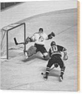 Nhl Hockey At The Pacific Coliseum Wood Print