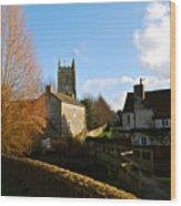 Nunney Church Wood Print