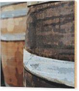 Oak Wine Barrel Wood Print