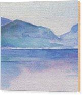 Ocean Watercolor Hand Painting Illustration. Wood Print