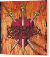 3 Of Swords Wood Print