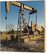 Oil Rig Wood Print