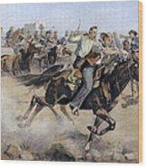 Oklahoma Land Rush, 1889 Wood Print