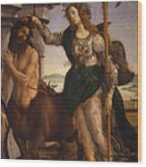 Pallas And The Centaur Wood Print