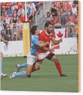 Pamam Games Men's Rugby 7's Wood Print