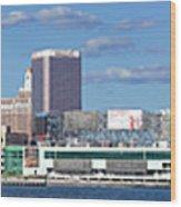 Panoramic View Of Atlantic City, New Jersey Wood Print