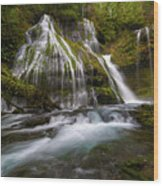Panther Creek Falls Wood Print