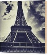 #paris Wood Print