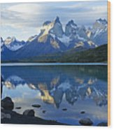 Patagonia Reflection Wood Print