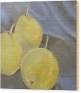 3 Pears Wood Print by Crispin  Delgado
