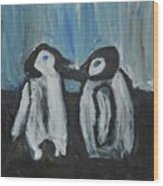 Penguins Wood Print