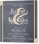 Personalized Wedding Invitation Wood Print
