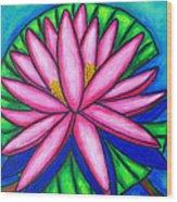 3 Pink Gems Wood Print