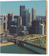Pittsburg Skyline Wood Print