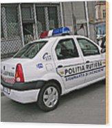 Police Wood Print