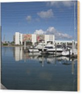 Port Canaveral Florida Usa Wood Print