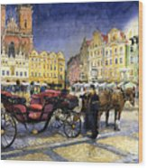 Prague Old Town Square Wood Print