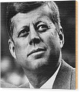 President Kennedy Wood Print by War Is Hell Store