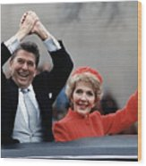 President Ronald Reagan And First Lady Wood Print