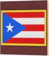 Puerto Rico Flag Wood Print