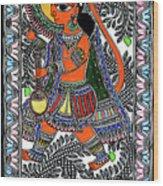 Radha Krishna Color Wood Print