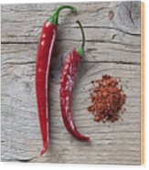 Red Chili Pepper Wood Print