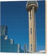 Reunion Tower - Dallas Texas Wood Print