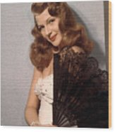 Rita Hayworth, Ca. 1940s Wood Print