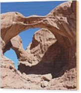 Rock Formation Wood Print