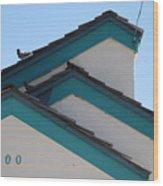 3 Roofs Wood Print