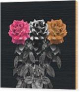 3 Roses Wood Print
