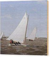 Sailboats Racing On The Delaware Wood Print