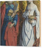 Saints Peter And Dorothy Wood Print