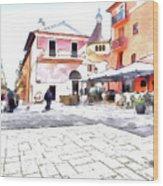 San Felice Circeo Square Wood Print