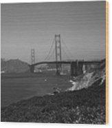 San Francisco - Golden Gate Bridge Wood Print
