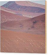 Sand Dune, Sossusvlei, Namib Desert Wood Print