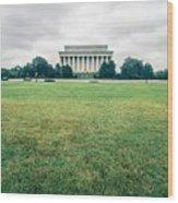 Scenes Around Lincoln Memorial Washington Dc Wood Print