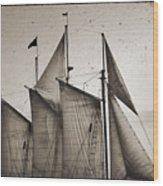 Schooner Pride Tall Ship Charleston Sc Wood Print