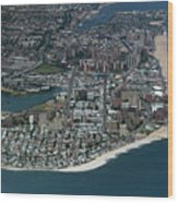 Seagate And Brighton Beach In Brooklyn Aerial Photo Wood Print
