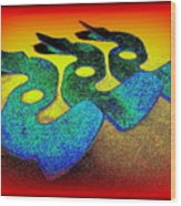 3 Serpents In The Sand  Wood Print