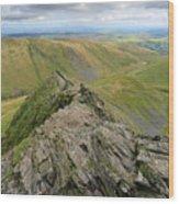 Sharpe Edge On Blencathra Fell, Lake District National Park Wood Print